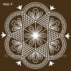 This page provides Bengali Alpana Designs with title Bengali Alpana 10 for Hindu festivals.