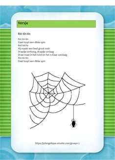 Versje: Rin tin tin Mathematics, Projects, Kids, Activities, Kid, Spiders, Math, Log Projects, Children
