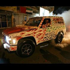 Vehicles decorated for UAE 43rd National Day PHOTO: taha_ahm3d