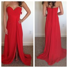 Long Red Dress by WanderlustRoom on Etsy, $250.00