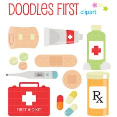 Items similar to First Aid Kit Digital Clip Art for Scrapbooking Card Making Cupcake Toppers Paper Crafts on Etsy