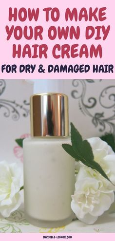 Looking for an easy DIY hair cream recipe? This homemade hair cream is perfect f… Looking for an easy DIY hair cream recipe? This homemade hair cream is perfect for the LOC method or simply anyone with dry tips! Hair Mask For Damaged Hair, Dry Damaged Hair, Diy Hair Mask, Home Remedies For Hair, Hair Loss Remedies, Homemade Shampoo, Homemade Hair, Homemade Beauty, Bobs