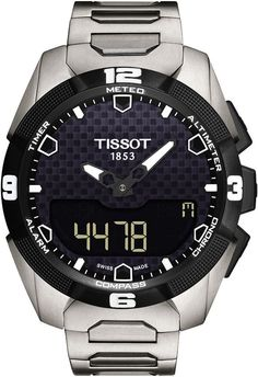 Brand: Tissot, Collection: T Touch Expert, Model Number: T091.420.44.051.00,  Features: Alarm, Chronograph, Compass, Date, Movement: Quartz, Strap Type: Titanium, Case Size: 45 mm, Warranty Period: 2 Years, Water Resistance: 100 meter