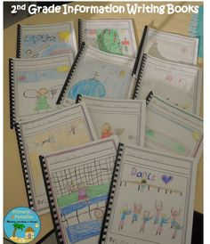 2nd Grade Informational Writing Books (Lucy Calkins) | My Primary Paradise free template included!