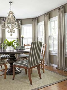 Kitchen corner window treatments sunrooms Ideas for 2019 – Living Room 2020 Large Window Curtains, Dining Room Curtains, Dining Room Windows, Bedroom Windows, Dining Rooms, Bedroom Curtains, Large Windows, Corner Window Treatments, Window Treatments Living Room