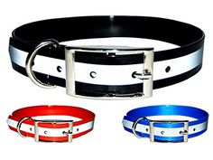 New Reflective Dark Dog Collar Strong TPU Safety Collar Suitable for Dogs or Cats Color Black Size Medium By Downtown Pet Supply *** Read more reviews of the product by visiting the link on the image.Note:It is affiliate link to Amazon.