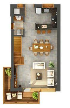Planos duplex 2 dormitorios buscar con google for Planos google