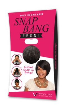 Snap Bang! Get the look of a bang without cutting your hair!   www.vivicafoxhair.com