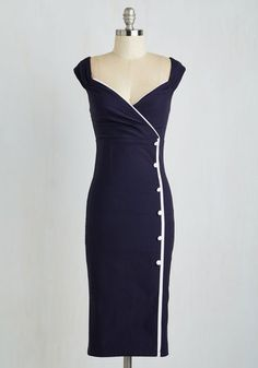 1940s sailor dress. Weekly Write-up Dress in Navy $84.99 AT vintagedancer.com
