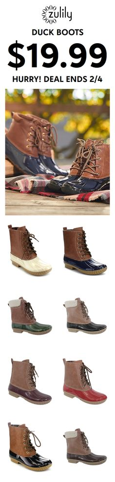 new concept 7095a 36a51 A Deal on Duck Boots