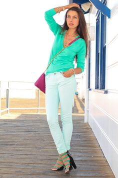 MINT jeans. When will the color obsession stop.