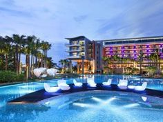 https://www.agoda.com/hotels-near-sentosa-island/attractions/singapore-sg.html?cid=1622054 The opulent Marina Bay Sands resort complex includes a hotel, high-end luxury brands, a mall with a canal running through it, the ArtScience Museum, and the Marina Bay Sands Skypark - a vantage point for taking in the entire city. The Skypark's viewing deck and infinity pool are found in the ship (yes, ship) that tops the hotel.