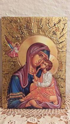 декупаж Religious Images, Religious Art, Tree Icon, Byzantine Icons, Orthodox Icons, Mixed Media Art, Decoupage, Saints, Spirituality