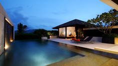 Contemporary design ideas for pool houses complement your outdoor lounge Modern Patio Design, Deck Design, Contemporary Design, Spa Design, Outdoor Lounge, Outdoor Living, Pool House Designs, Pool House Plans, Best Boutique Hotels