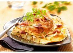 Omelette de magret de canard fumé