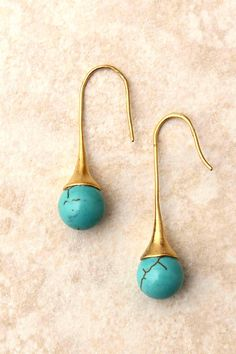 Turquoise Raindrop Earrings | Emma Stine Jewelry Set | $24 >> These are so pretty!