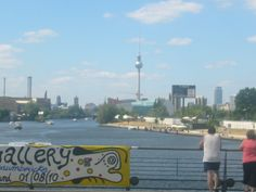 View from Oberbaumbrücke to Central Berlin with TV Tower, Spree, East Side Gallery, Friedrichshain, Kreuzberg