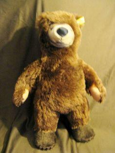 """Vintage 20 C Steiff Bear 14"""" Stuffed Animal."""