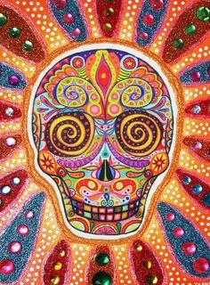 DÍA DE LOS MUERTOS ❀ Skull art by Thaneeya