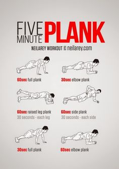 """>>>Cheap Sale OFF! >>>Visit>> Five Minute Plank Workout A 5 minute workout…that is nothing right? This short 5 minute workout will have you saying """"when will it be over! Neila Rey Workout, Sixpack Workout, Gym Workout Tips, Plank Workout, Workout Equipment, 3 Minute Arm Workout, 300 Workout, Running Equipment, Fitness Workouts"""