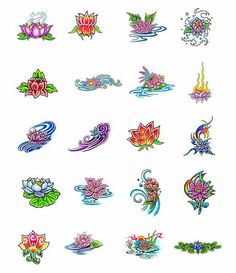 lotus+flower+tattoo+designs | Lotus Flower Tattoos What Do They Mean Designs