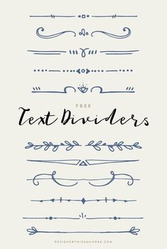 FREE Text Dividers – Designs By Miss Mandee. 11 hand drawn, whimsical lines, per… FREE Text Dividers – Designs By Bullet Journal Writing, Bullet Journal Ideas Pages, Bullet Journal Inspiration, Bullet Journal Dividers, Doodle Inspiration, Bullet Journals, Bullet Journal Lines, Bullet Journal Ideas Handwriting, Cool Doodles