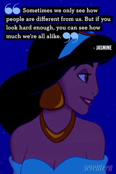 Aladdin Quotes jasmine quote sometimes we only see how people are Aladdin Quotes. Aladdin Quotes like so many things disney movie quotes aladdin quotes robin williams aladdin quotes top 1 quotes about robin aladdin q. Inspirational Life Lessons, Best Inspirational Quotes, New Quotes, Qoutes, Music Quotes, Wisdom Quotes, Quotations, Disney Princess Movies, Best Disney Movies