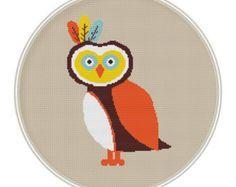 Owls Cross stitch pattern Counted cross stitch pattern | Etsy