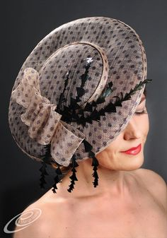 Elegant couture fascinator hat for Ascot, Derby, weddings, garden and cocktail parties. Womens Kentucky Derby Hat. Womens Ascot Hat.