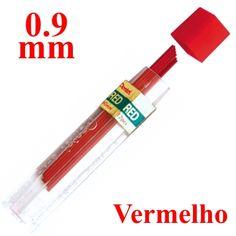 Mina Grafite Pentel 0.9mm Vermelho  Mina Grafite Pentel 0.9mm Vermelha, tem sua escrita suave com resistência, pode ser utilizada em todas as lapiseiras automáticas da Pentel. Mina Grafite Pentel marca de qualidade.  www.frutodearte.com.br R$ 8,55