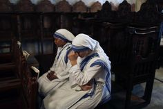 Catholic and Orthodox Christians live as siblings in Gaza, where the Christians are few and must help one another. Catholic nuns weep at the funeral of Jalila Faraj Ayyad, an elderly Orthodox woman killed in an Israeli strike on the Saint Porfirios Orthodox Church on July 27, 2014.