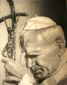Catholic Religion, Catholic Saints, Roman Catholic, Religious Pictures, Religious Art, Virgin Mary Painting, Papa Juan Pablo Ii, Pope John Paul Ii, Holy Mary