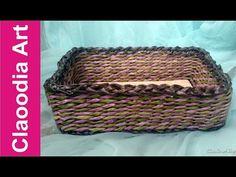 Come fare un cesto di vimini rettangolare con la carta? - YouTube