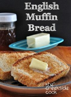 English Muffin Bread is so fast and easy, that anyone can make it! | The Creekside Cook | #yeast #bread #breakfast