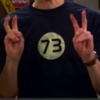 Sheldon's 73 Shirt: The best number is 73.... 73 is the twenty-first prime number. Its mirror, 37, is the twelfth and its mirror, 21, is the product of multiplying (hang on to your hats) 7 and 3.... In binary, 73 is a palindrome: 1-0-0-1-0-0-1, which backwards is 1-0-0-1-0-0-1.  Owww my head..........