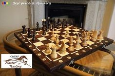 Top quality ''ambassador'' #wooden chess set #54x54! #superb chessboard and piece,  View more on the LINK: 	http://www.zeppy.io/product/gb/2/131331315605/