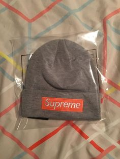 9d6ed13c955 2017 FW Supreme New Era Box Logo Beanie HEATHER GREY One Size Br  fashion   clothing  shoes  accessories  mensaccessories  hats (ebay link)