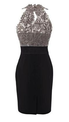 Great black dress with a flair!!!!!!! #ladies,fashion,dress,black,#design