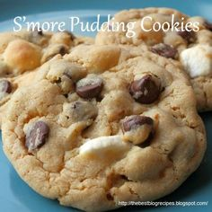 S'more Pudding Cookies from The Best Blog Recipes!  No campfire needed for these yummy little treats!