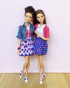 457 отметок «Нравится», 1 комментариев — Emily Polak (@emilypm3) в Instagram: «Today's dolly duo #barbiedoll #barbiemadetomove #madetomovebarbie #barbiefashionista #barbiestyle…»