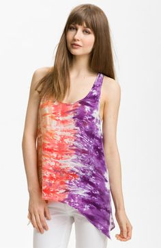 C & C California Tie Dye Asymmetrical Hem Tank available at Nordstrom