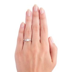 Art Deco Solitaire Wedding Ring | Fairhaven from Trumpet & Horn