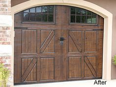 Completion time estimates Garage doors 3-5 days (weather permitting April-Oct.).  Pricing $1000 minimum on all exterior jobsSingle Garage Doors - $700Double Garage Doors- $1000Front Doors - $500 one side, $900 two sidesSidelights $100 per sidelight per sideShutters $300 per pair / $400 oversizedWood Doors and shutters add 15%Garage Doors with windows add 15%