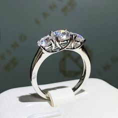 💕Free Shipping For This Royal 2 Carat Round Cut Moissanite Engagement Ring For a limited time From JEWELLERYRACK. It Would be a perfect gift. Order now! Dyi, White Gold Rings, Silver Ring, 925 Silver, Sterling Silver, Diamond Alternatives, Moissanite Diamonds, Cool Necklaces, Color Ring
