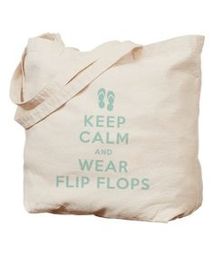 Light Blue 'Keep Calm And Wear Flip Flops' Tote #zulily #zulilyfinds