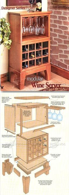 Wine Server Plans - Furniture Plans and Projects   http://WoodArchivist.com