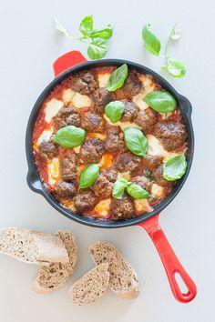 Gehaktballetjes met mozzarella in tomatensaus uit de oven ingrediënnten