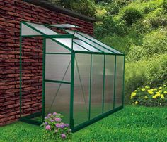 Backyard Greenhouse Ideas love the brick floor of this greenhouse the devoted classicist nancy mccabe the backyard greenhousegreenhouse ideasmini Lean To 4 X 8 Backyard Garden Greenhouse Diy Kits
