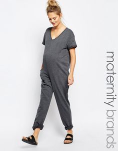 68d36dd6e02 Bluebelle Maternity Lounge Slouchy Jumpsuit Maternity Romper