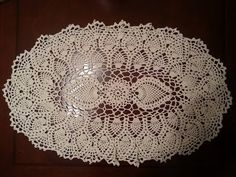 Crochet Doily - Oval Pineapple Doily Part 9 - Final Part - YouTube